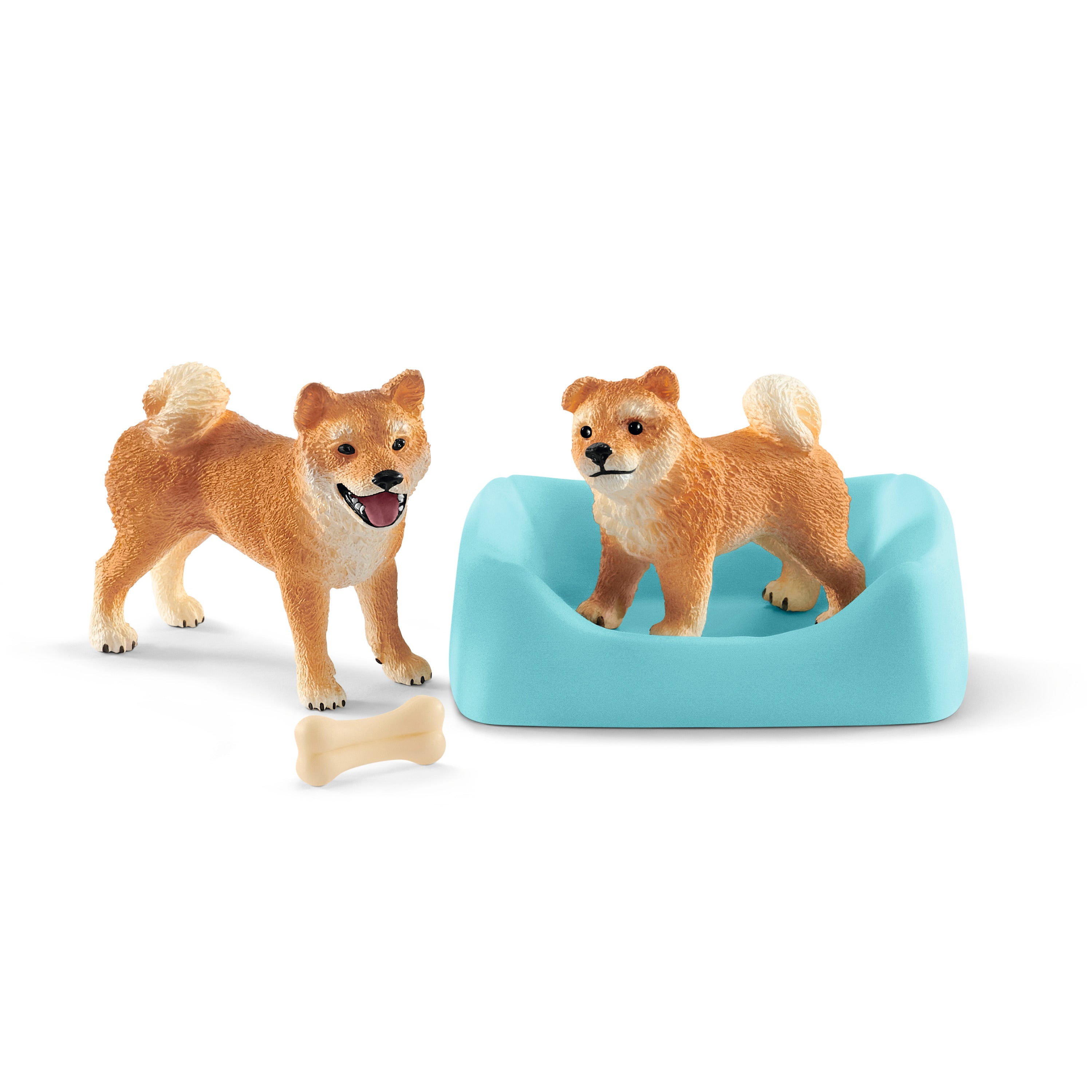 #42479 Shiba Inu Mother & Puppy Set