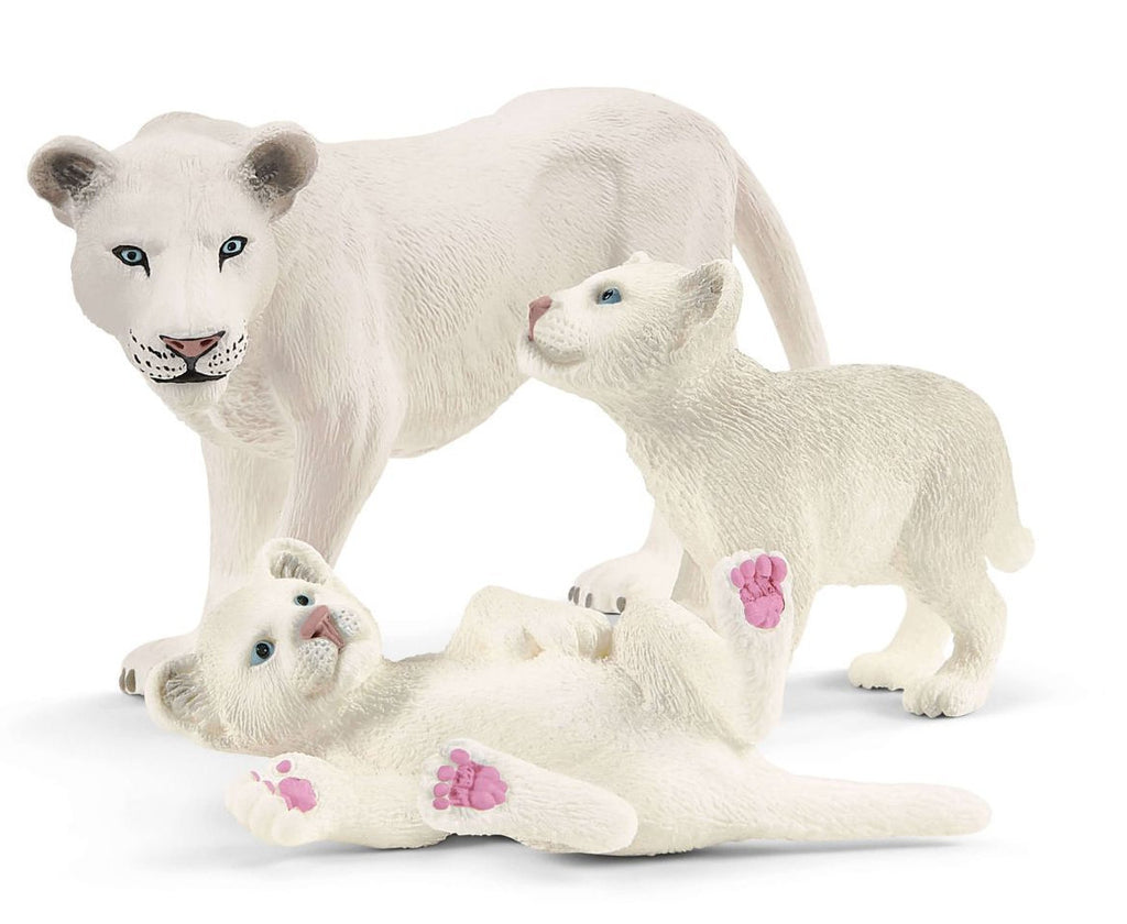 #42505 White Lioness with Cubs