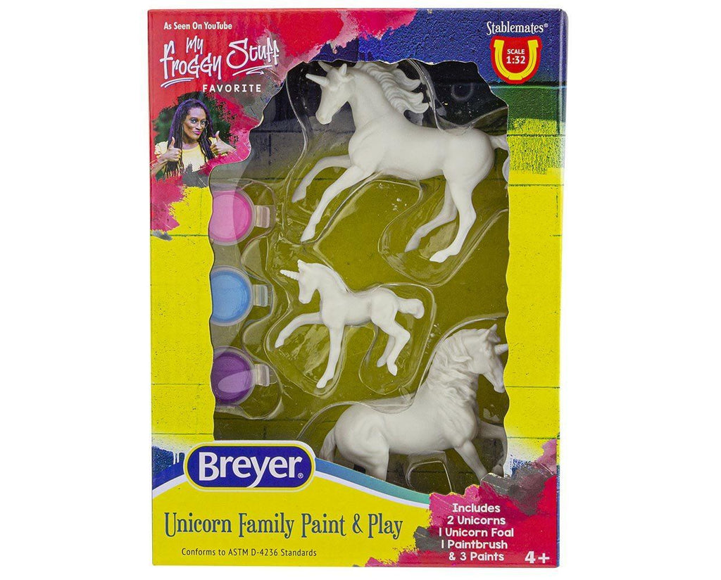 #4262 1/32 Stablemates Unicorn Family Paint & Play Set