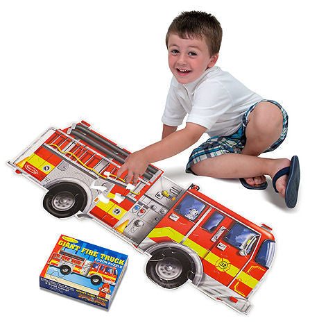 #436 Giant Fire Truck Floor Puzzle