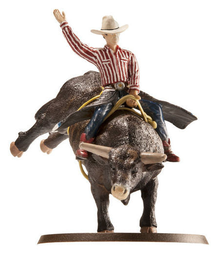 438bc 1 20 Lane Frost Amp Red Rock Bull Riding Set Action