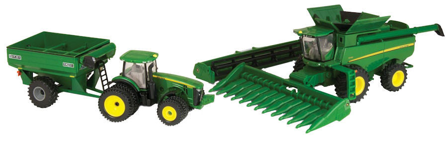 #45443 1/64 John Deere Harvesting Set