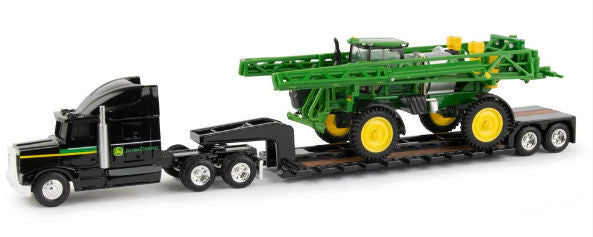 #45612 1/64 John Deere R4038 Sprayer with Semi & Lowboy Trailer