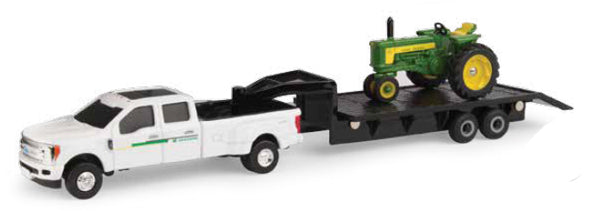 #45651 1/64 John Deere 530 Tractor with Ford F-350 Dually Pickup & 5th Wheel Trailer Set