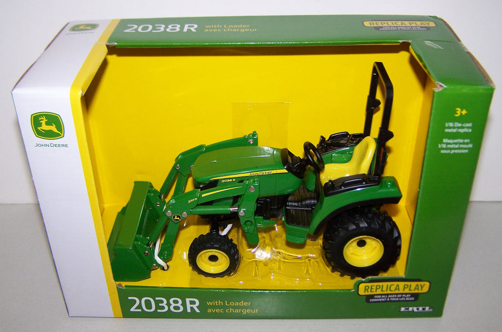 #45676 1/16 John Deere 2038R Tractor with Loader