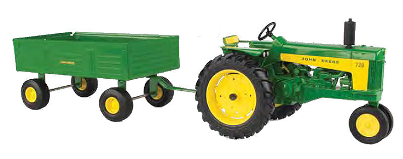 #45686 1/16 John Deere 730 Tractor with Barge Wagon, Narrow Front