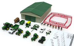 #46276 1/64 John Deere 70-pc. Farm Toy Play Set