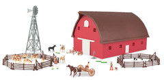 #46765 1/64 Round Gable Barn Set