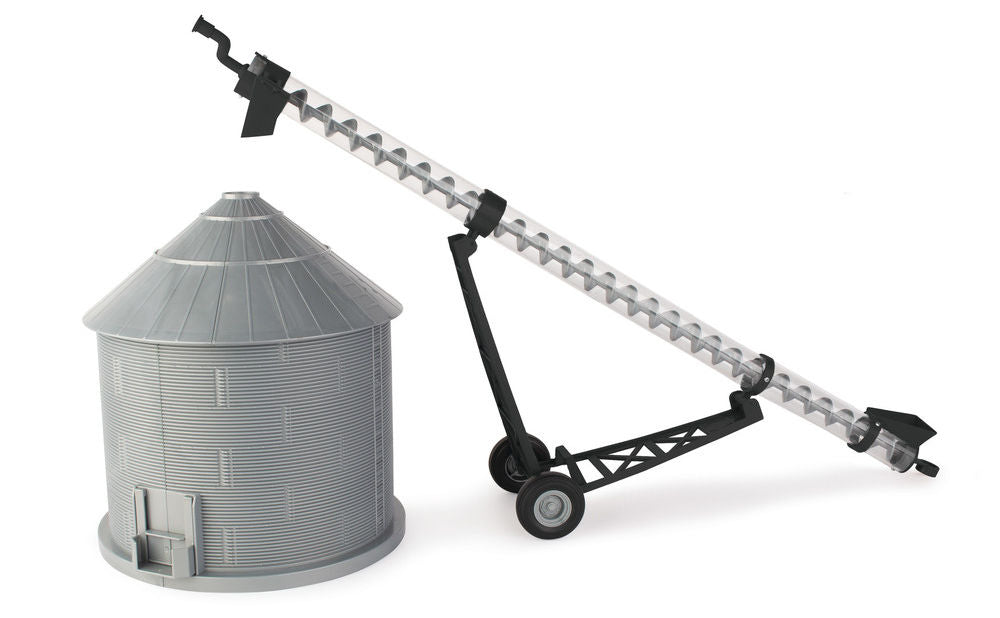 #46795 1/16 Big Farm Grain Bin & Auger Set