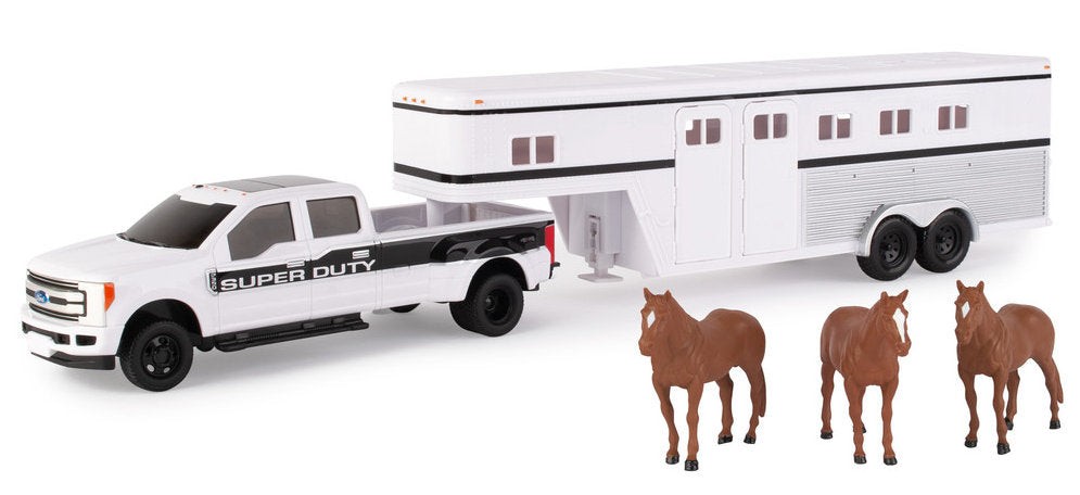 #46800 1/32 Ford F-350 Pickup with Horse Trailer and Horses