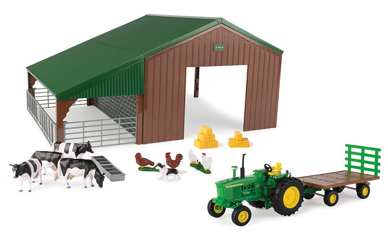 #47024 1/32 John Deere 4020 Tractor and Dual Purpose Shed Playset