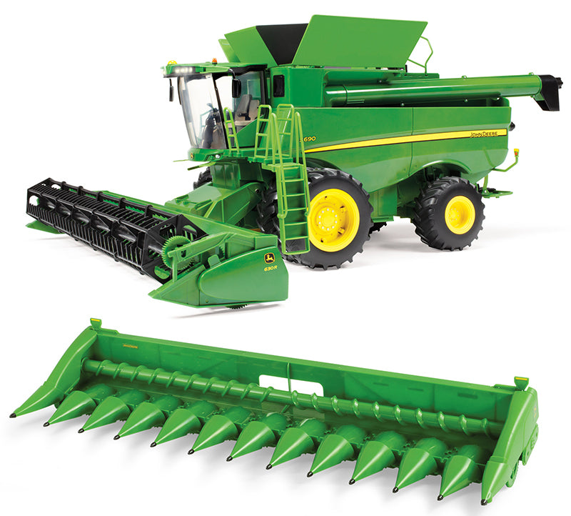 #47101 1/16 John Deere S690 Combine with Grain and Corn Heads