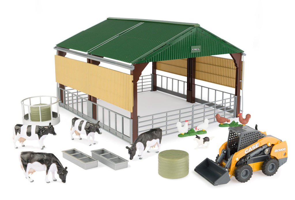 #47251 1/32 Case Skid Steer & Shed Playset