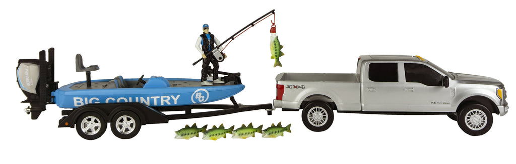 #484BC 1/20 Bass Fishing Set with Ford F-250 & Bass Boat