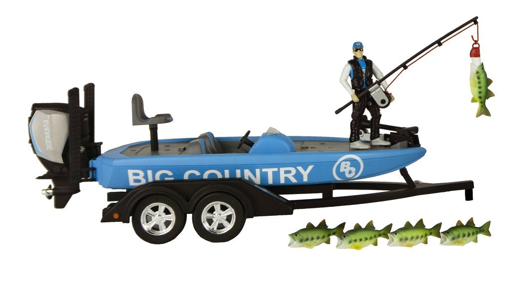 #498BC 1/20 Bass Fishing Boat with Trailer & Accessories