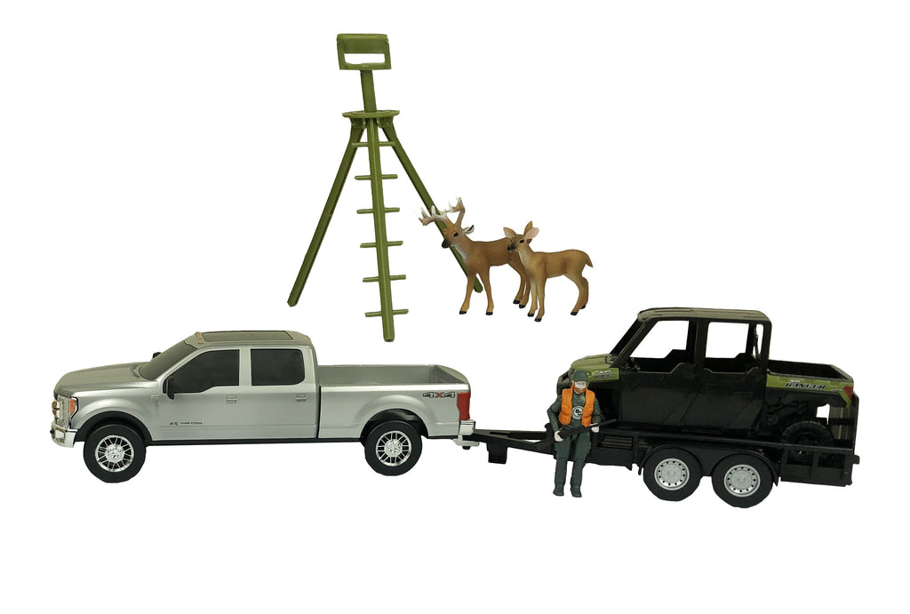#499BC 1/20 Deer Hunting Set with Polaris Ranger & Ford F-250 Pickup