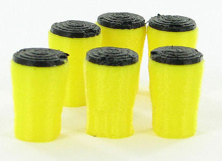 #50-107-Y 1/50 Crash Absorption Barrels - 6 pc.