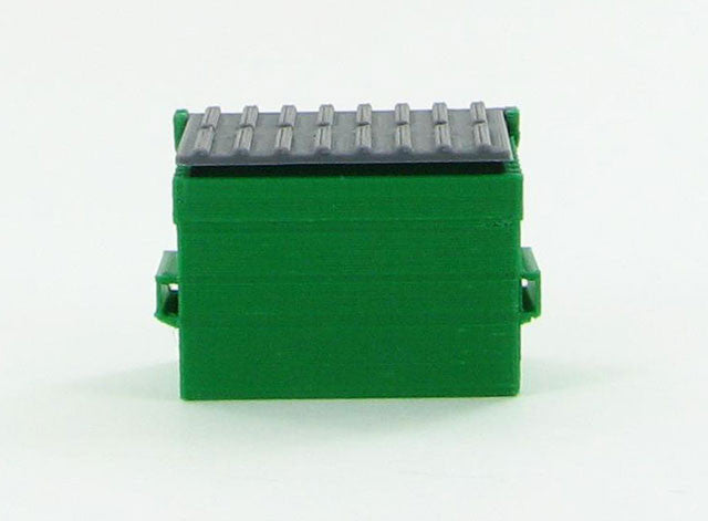 #50-230-GR 1/50 Green Trash Dumpster