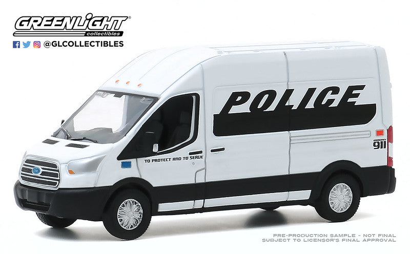 #53010-D 1/64 Police Prisoner Transport 2019 Ford Transit LWB High Roof