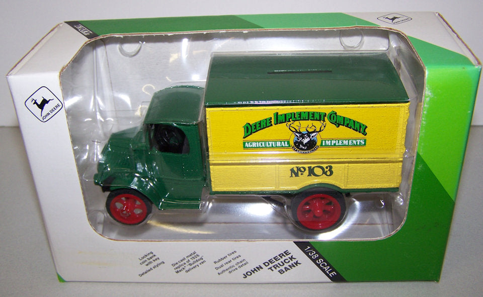 #5564 1/38 John Deere 1926 Mack Bulldog Delivery Van Bank #103