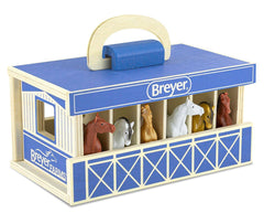 #59217 1/32 Breyer Farms Wood Stable Carry Case