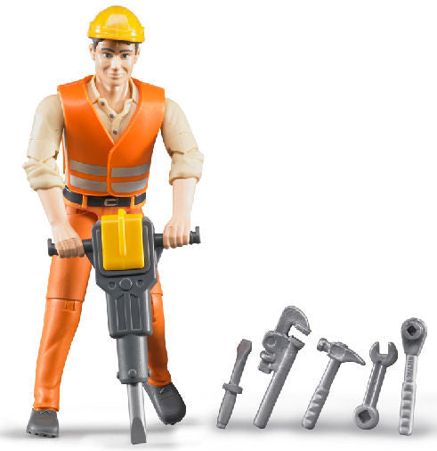 #60020 1/16 Construction Worker with Accessories