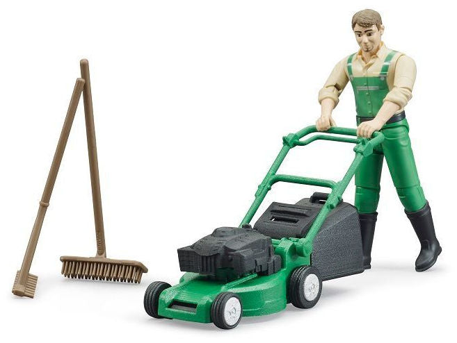 #62103 1/16 Bworld Gardener with Push Mower & Accessories