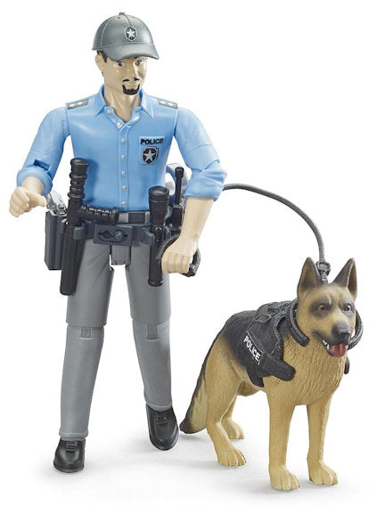 #62150 1/16 Policeman with Dog