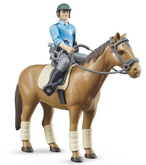 #62507 1/16 Bworld Policeman with Horse