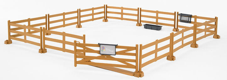 #62604 1/16 Bworld Brown Pasture Fence Set