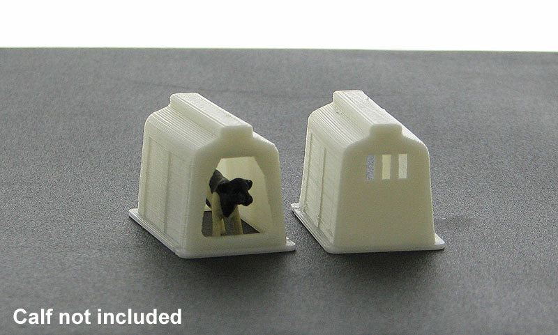#64-335-WT 1/64 White Calf Shelter - 2 pc.