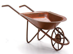 #6552-77 Rusted Brown Tin Wheelbarrow