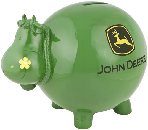 #6915 John Deere Cow Savings Bank