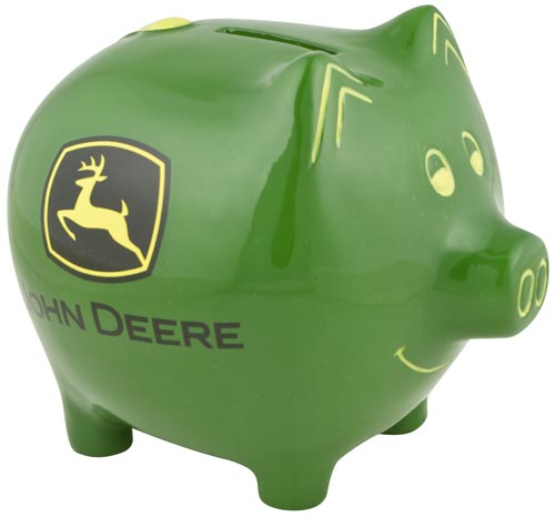 #6921 John Deere Green Piggy Bank