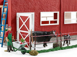 #72102 1/20 Large Red Farm Barn with Angus & Accessories