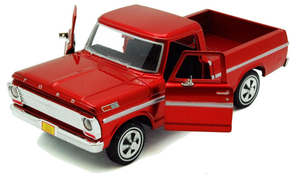 #79315 1/24 Burgundy 1969 Ford F-100 Pickup
