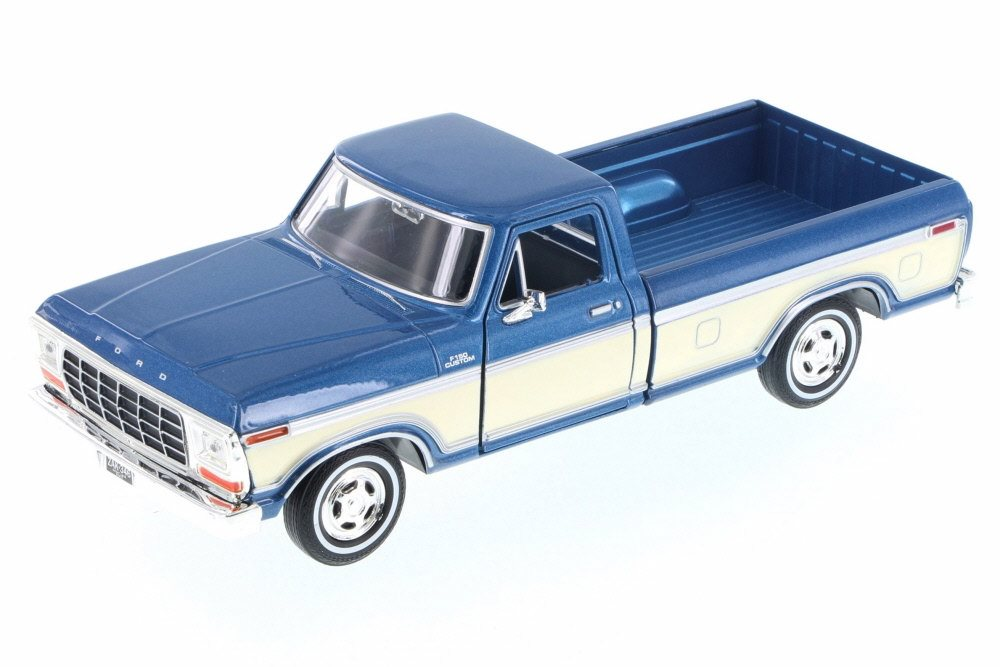 #79346BC 1/24 Blue & Cream 1979 Ford F-150 Custom Pickup