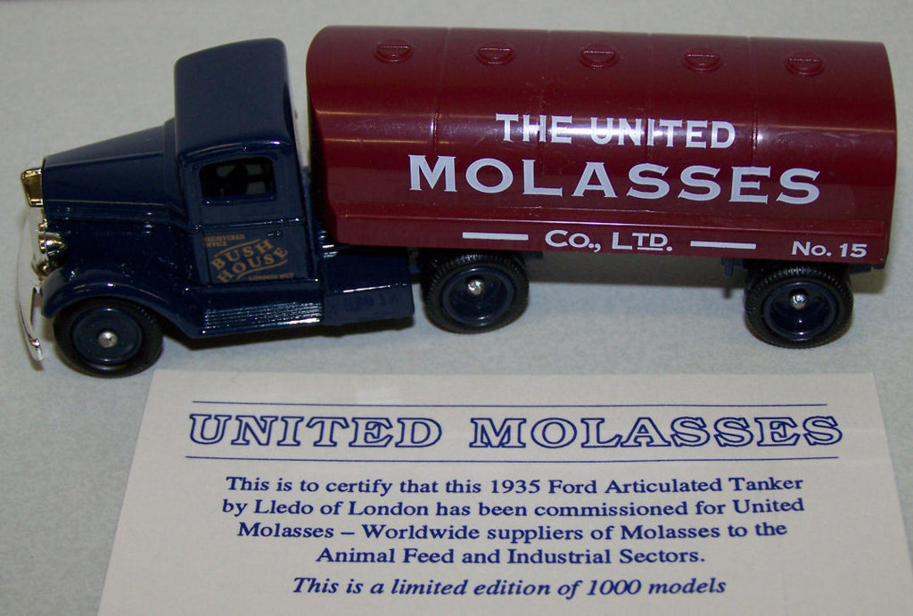 #80008 1/87 United Molasses 1935 Ford Articulated Tanker
