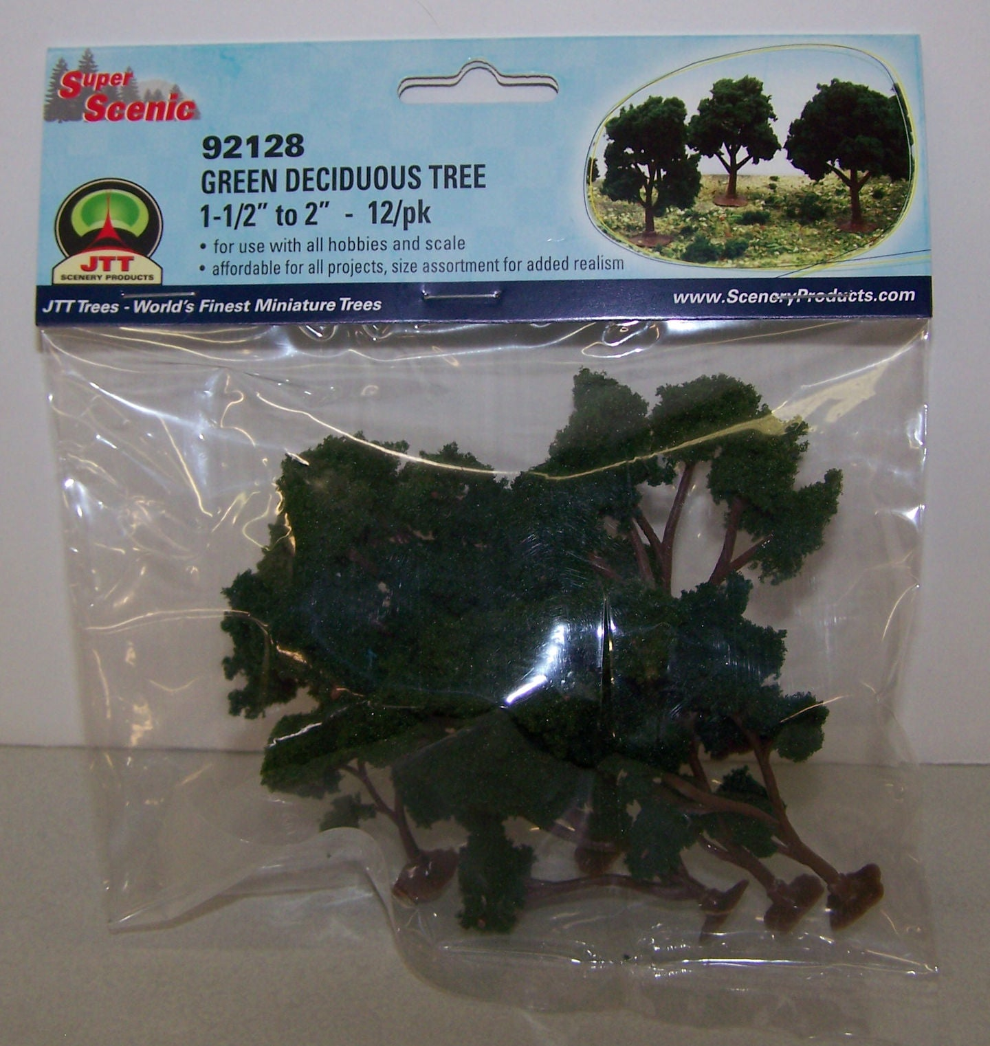 #92128 Green Deciduous Tree 12-pc Set