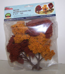 #92133 Autumn Deciduous Tree 4-pc Set