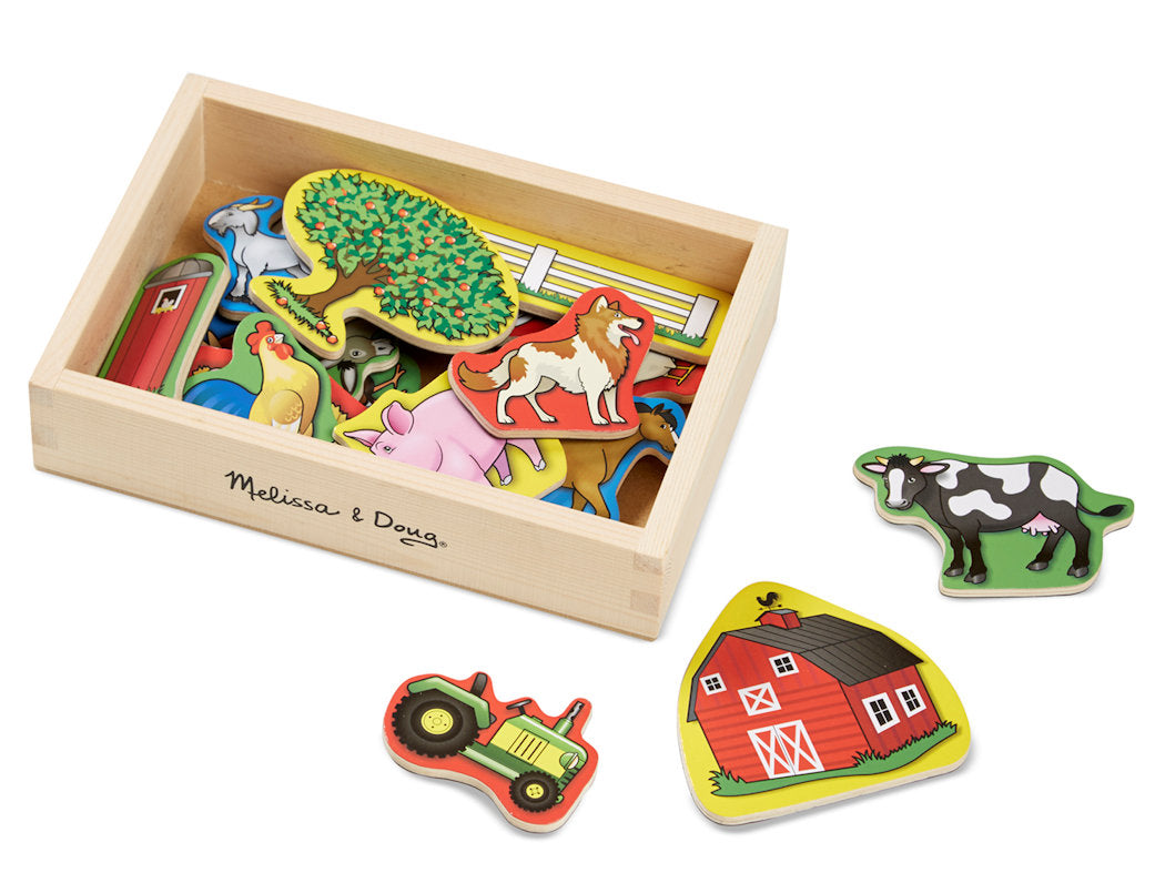 #9279 Wooden Farm Magnets Set