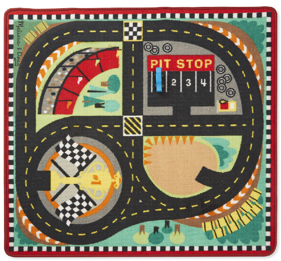 #9401 Round the Speedway Race Track Rug