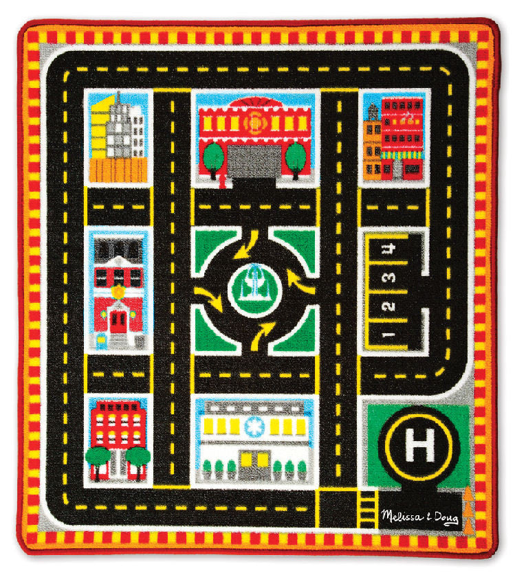 ... #9406 Round The City Rescue Rug