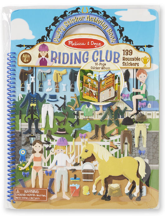 #9410 Riding Club Puffy Sticker Activity Book