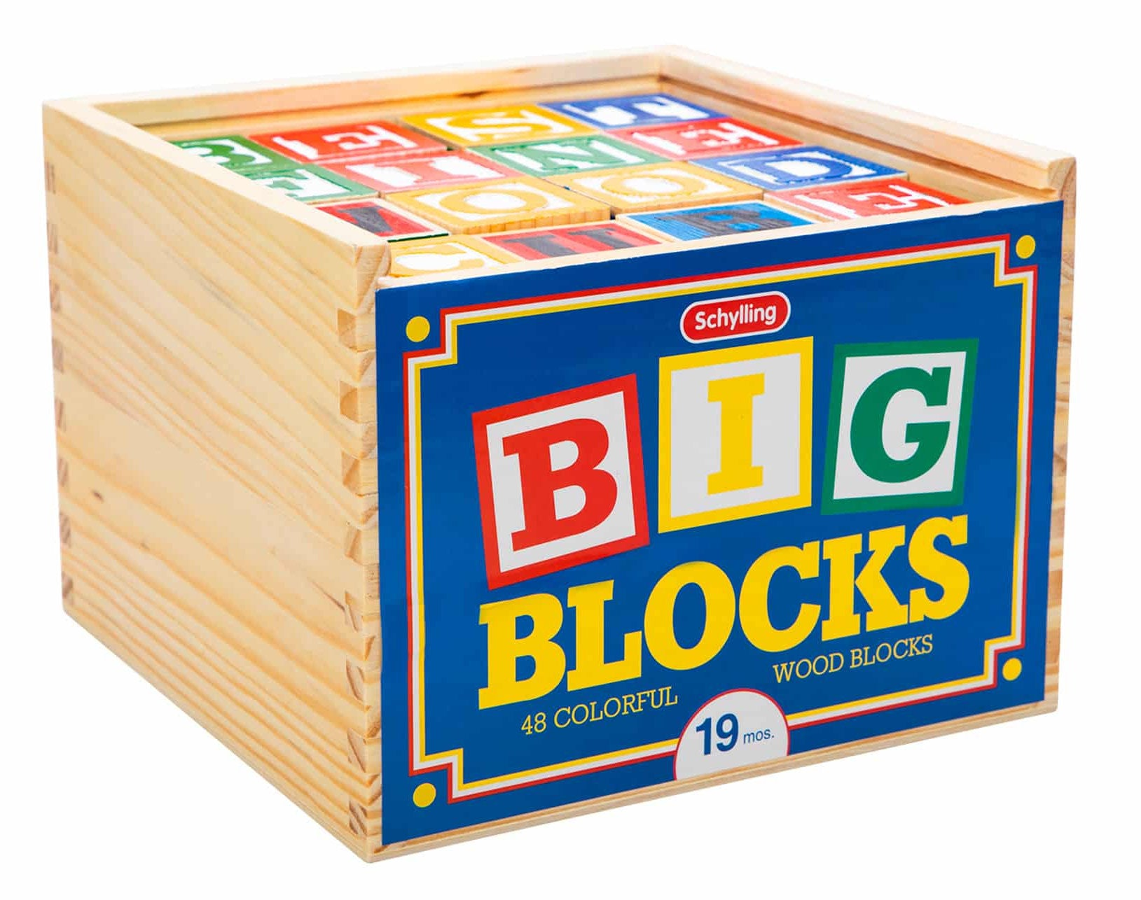 #ABL Large Wooden ABC Block Set with Box