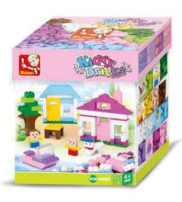 #B0503 Kiddy Bricks Bulk Pastel Color Building Brick Set, 415 pc.
