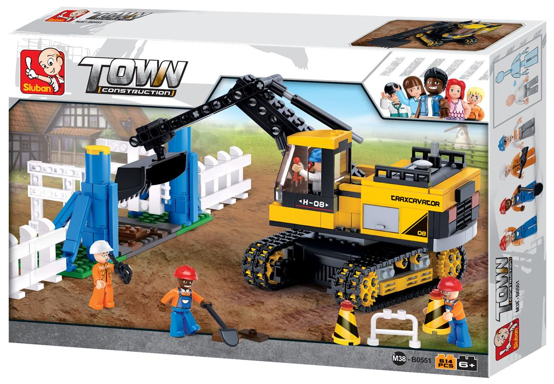 #B0551 Construction Traxcavator Building Block Set