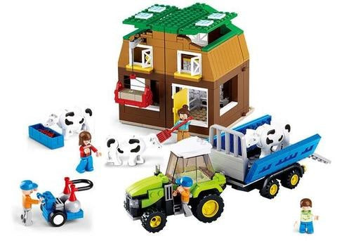#B0561 Farm Cow Farm Building Block Set