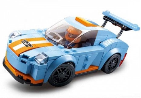 #B0633A Car Club Leopard Racing Car Building Block Set