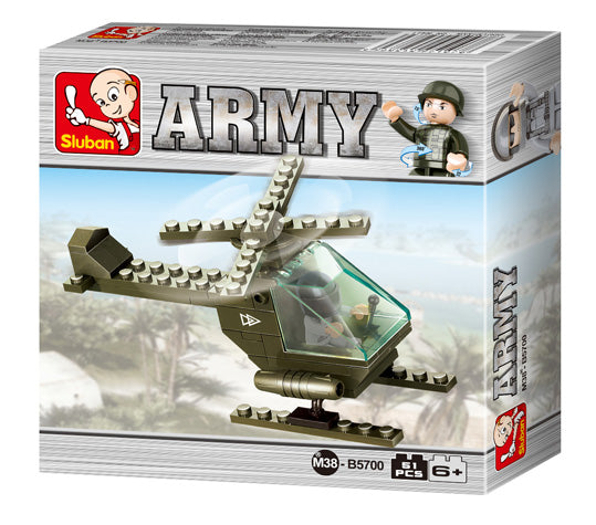 #B5700 Army Land Forces Battle Helicopter Building Block Set